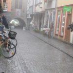 Kramerbrücke im Regen