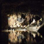 Lichtershow über Grottensee